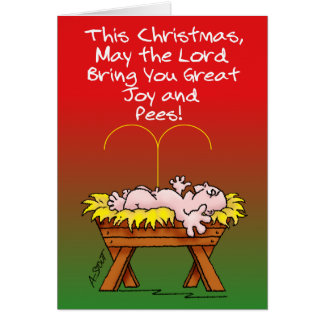 Great Joy and Pees-Funny Christmas Card