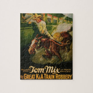 Great K&A Train Robbery Movie Poster Puzzle