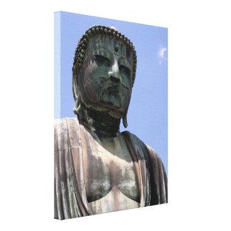 great kamakura buddha canvas print