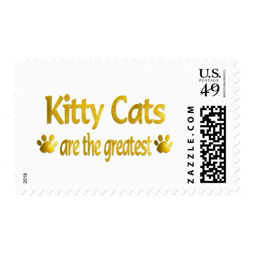 Great Kitty Postage Stamps