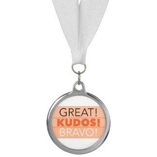 Great! Kudos! Bravo! Medallion Award, Silver Medal
