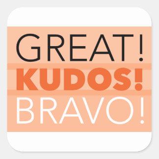 Great! Kudos! Bravo! Sticker, Sticker