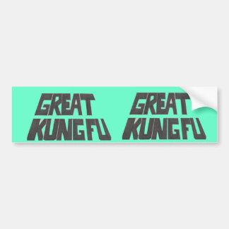 great kung fu bumper sticker