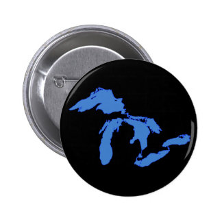 Great Lakes Alone - Round Button