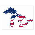 Great Lakes American Flag Post Cards