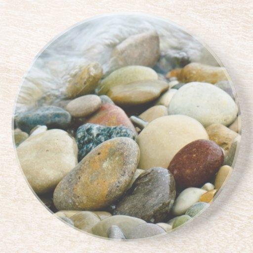 Great Lakes Beach Stones Coaster