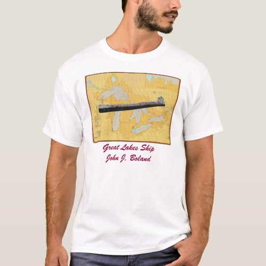 Great lakes Chart with John J. Boland T-Shirt