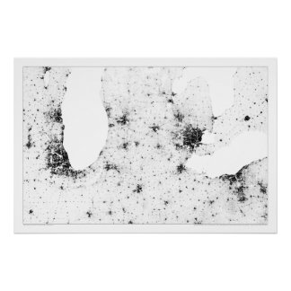 Great Lakes Cities Census Dotmap Posters