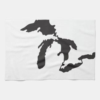 Great Lakes Custom Illustration Hand Towel