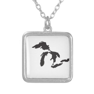 Great Lakes Custom Illustration Personalized Necklace