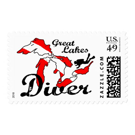 Great Lakes Diver Postage