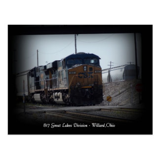Great Lakes Division Train Depot Willard Ohio Post Postcard