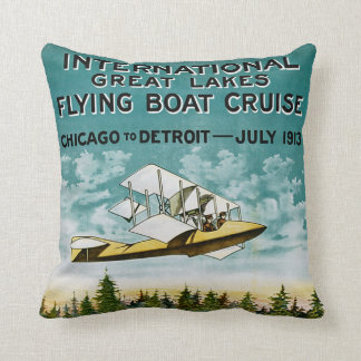 Great Lakes Flying Boat Throw Pillows