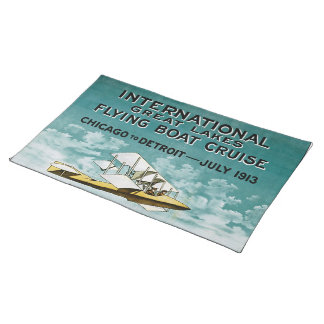 Great Lakes Flying Boat Cloth Placemat