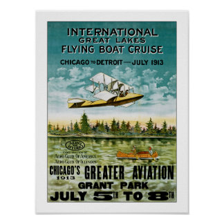 Great Lakes Flying Boat Poster