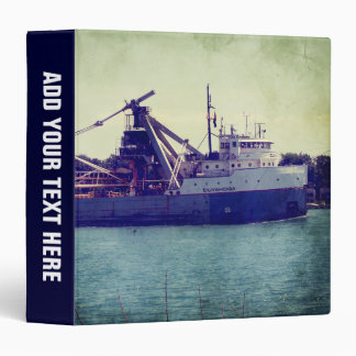 Great Lakes Freighter 3 Ring Binder