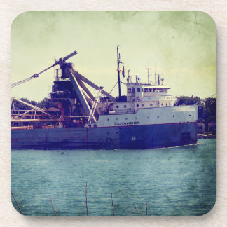 Great Lakes Freighter Drink Coasters