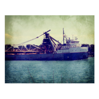 Great Lakes Freighter Postcard