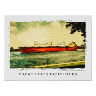 Great Lakes Freighters Poster