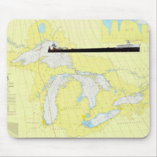 Great Lakes General Chart abd M/V American Spirit Mouse Pads