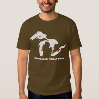 Great Lakes, Great Diving - Dark T Shirt