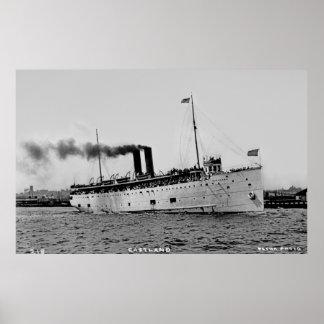 Great Lakes Passenger Steamer Eastland Poster