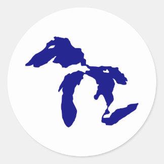 Great Lakes Pegatina Redonda