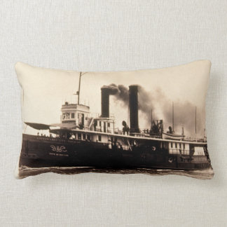 Great Lakes SS New York Louis Pesha Vintage Throw Pillow