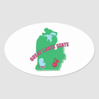 Great Lakes State Oval Sticker