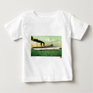 Great Lakes Steam Ship North West Postcard 1905 Baby T-Shirt