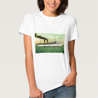 Great Lakes Steam Ship North West Postcard 1905 Tee Shirt