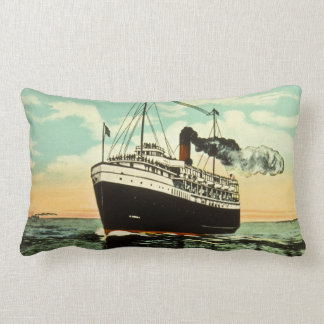 Great Lakes Steamer Alabama Put In Bay Ohio Lumbar Pillow