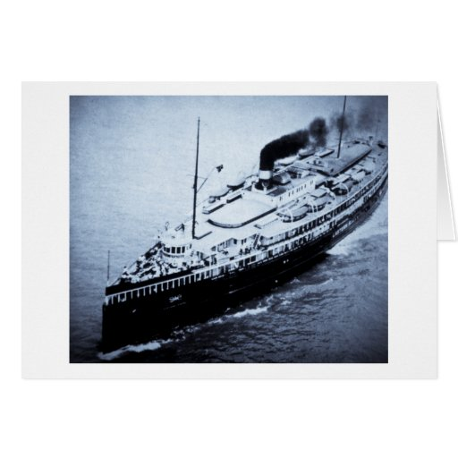 Great Lakes Steamer Eastern States Greeting Card