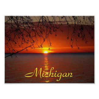 Great Lakes Sunset by Bobby Mikul Poster