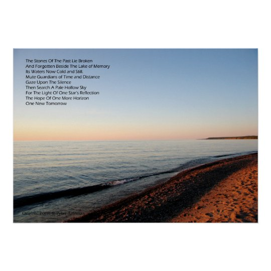 Great Lakes Sunset Sunset Poster With Poem
