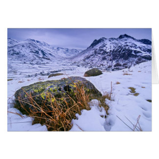 Great Langdale in Winter - The Lake District Card