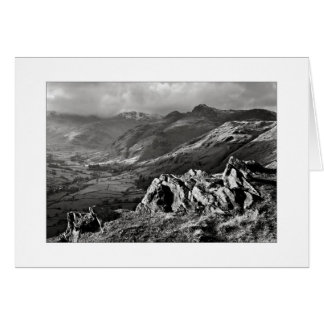 Great Langdale, The Lake District - Mono Card
