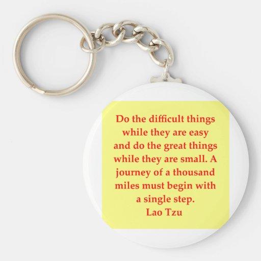 great Lao Tzu Quote Basic Round Button Keychain