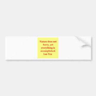 great Lao Tzu Quote Car Bumper Sticker