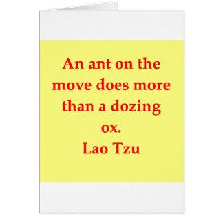 great Lao Tzu Quote Card