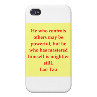 great Lao Tzu Quote iPhone 4 Cover