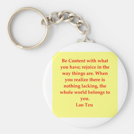 great Lao Tzu Quote Key Chains