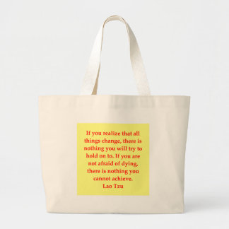 great Lao Tzu Quote Large Tote Bag