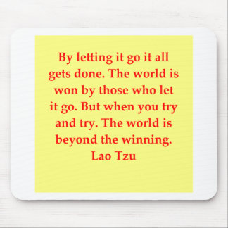 great Lao Tzu Quote Mouse Pad
