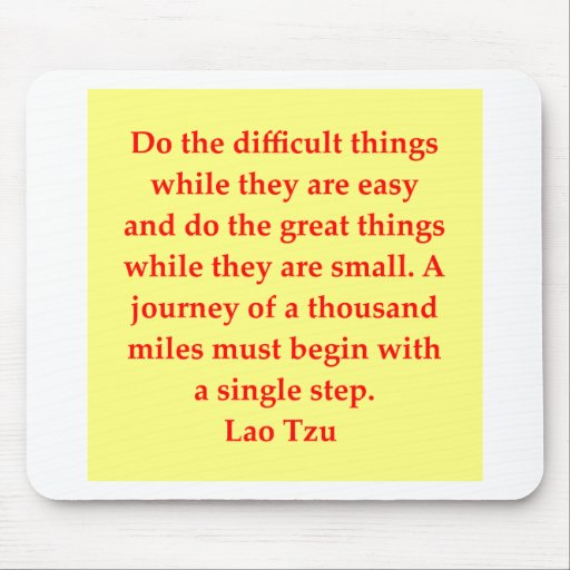great Lao Tzu Quote Mousepads