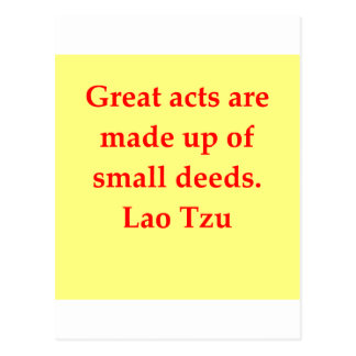 great Lao Tzu Quote Post Cards