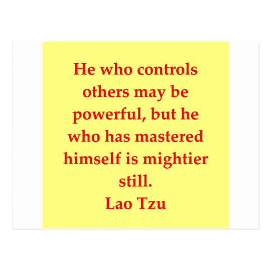 great Lao Tzu Quote Postcard
