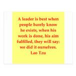 great Lao Tzu Quote Postcard