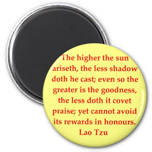 great Lao Tzu quote Refrigerator Magnet