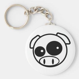 Great looking Subie Pig Basic Round Button Keychain